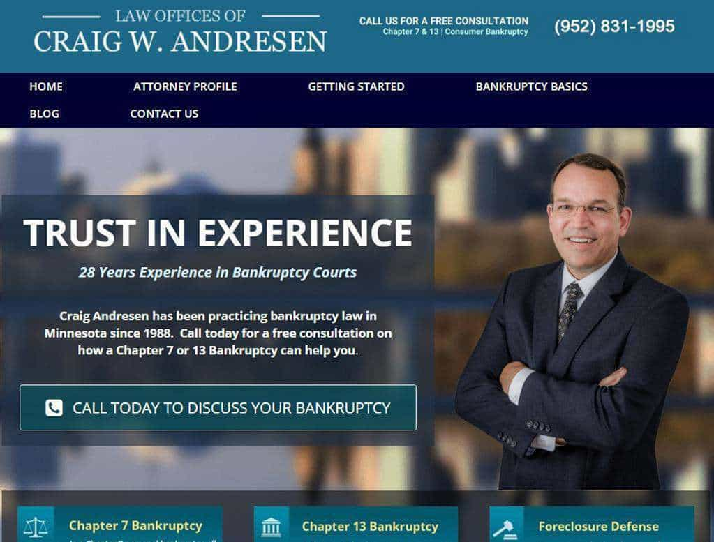 bankruptcy attorney website designs