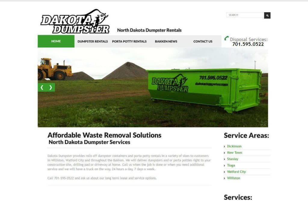 dumpster rental websites