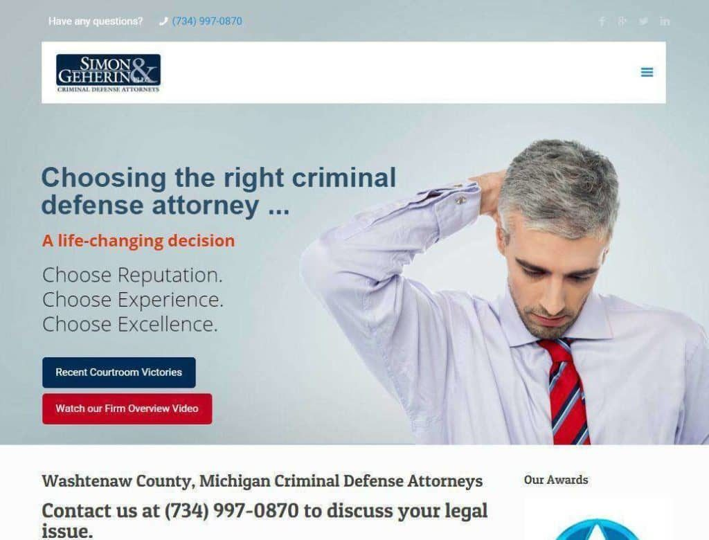 dui lawyer website designs mobile responsive