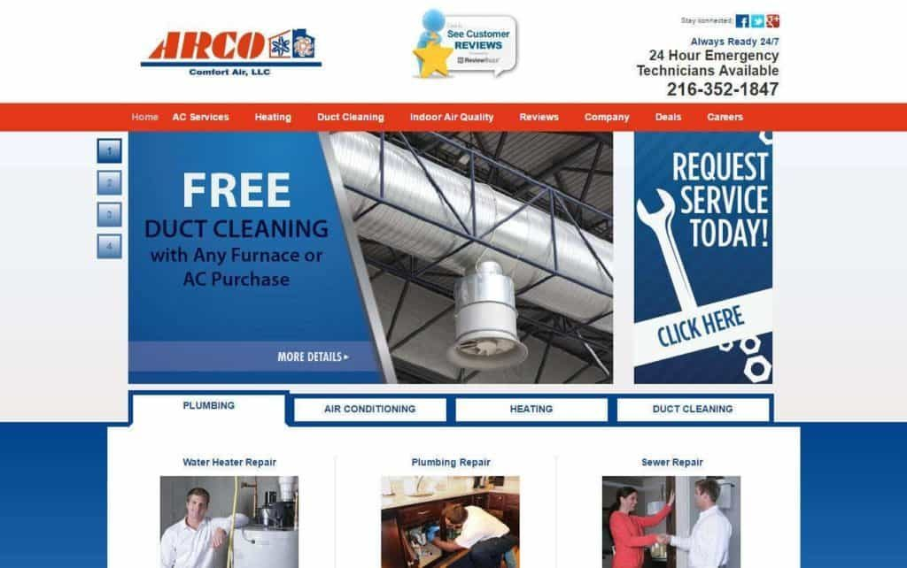 HVAC website designs