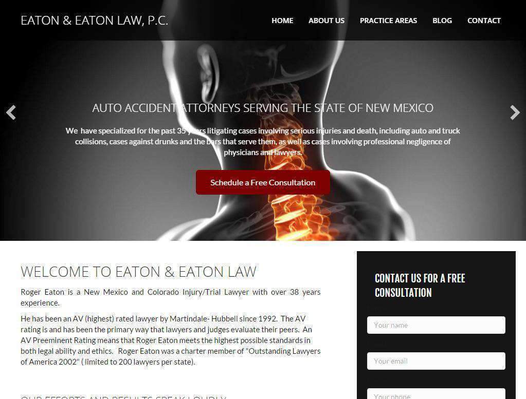 injury attorney web designs for sale