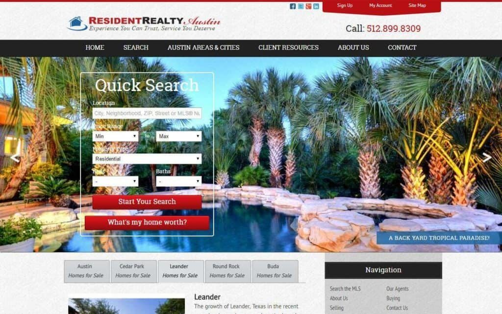 real estate investment website designs that are mobile friendly